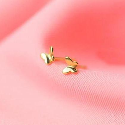 Sterling Silver Butterfly Ear Studs..