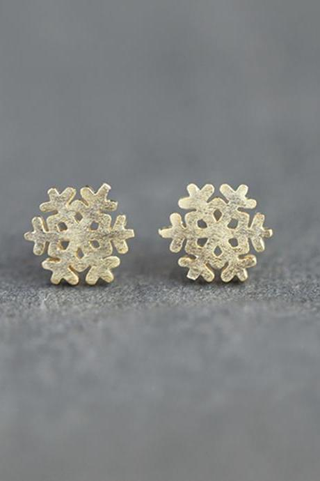 S925 Sterling Silver Snowflake Ear Studs, Snowflake Earrings, Filigree Ear Studs, Snowflake Earring Posts, Snowflake Ear Stud