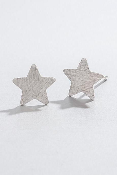 Sterling silver filigree geometric ear post, star earrings stud, star earring post, star ear stud, star earrings