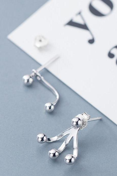 Solid Silver Irregular Claw Ear Studs, Claw Post Earrings, Women Earrings, Everyday Earrings, Ear Post, Claw Earrings