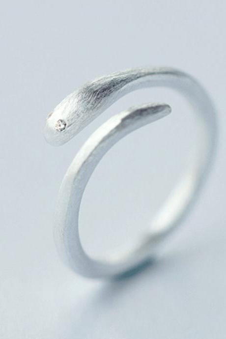 Filigree Snake Ring, Sterling Silver Adjustable Snake Ring, Minimalist Rings, Dainty Ring, Women Snake Ring, Everyday Jewelry